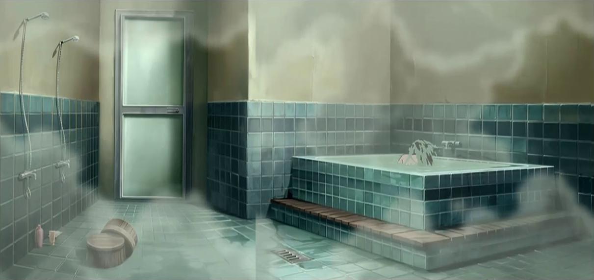 Ванная комната аниме картинки